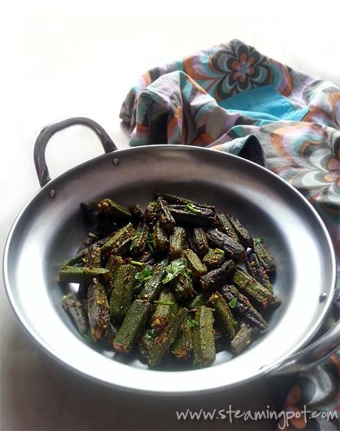 Masala Bhindi - Okra Sans Onions