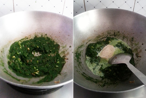 Spinach Puree, Cooking with Cheese