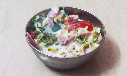 Moong and Onion Raita