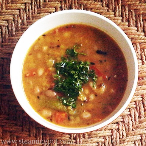 Gujarati Dal: Yellow Lentils with Peanuts and Jaggery
