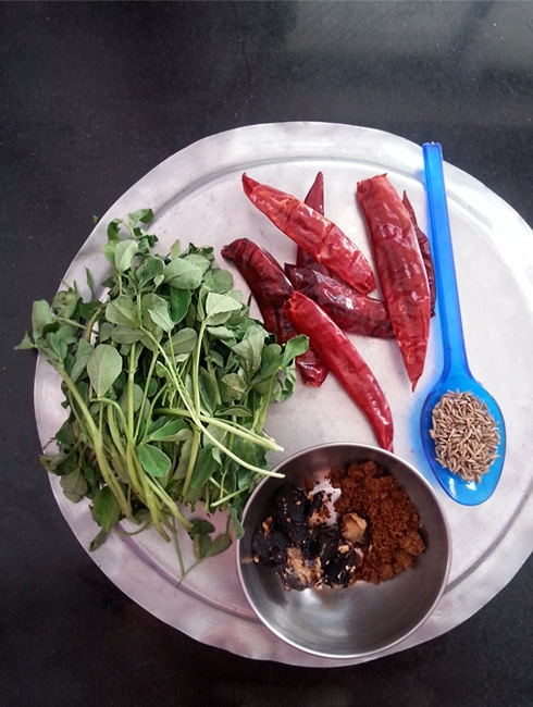 Methi Chutney Ingredients