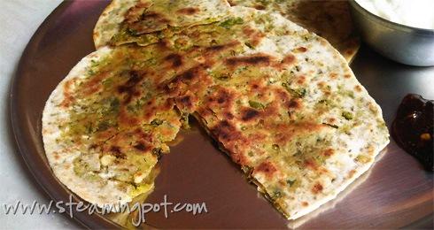 Peas Paratha - Matar Paratha