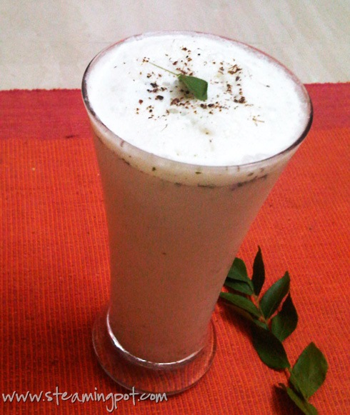 Buttermilk with Curry Leaves, Ginger and Mint