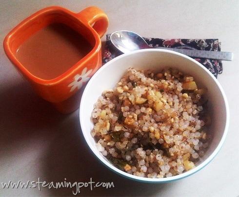 Sabudana Khichdi and Tea