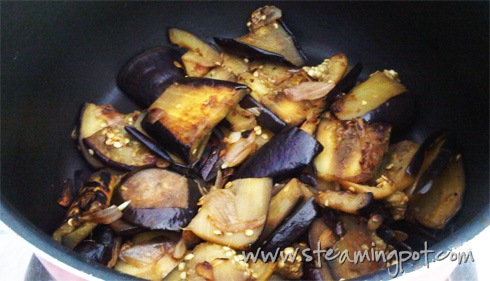 Eggplant Slices, Cooked