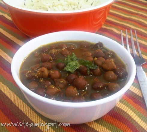 Kala Chana with Poppy Seeds and Mint