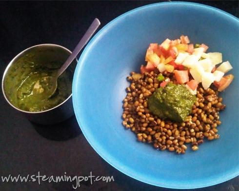 Moong Dal Salad Preparation