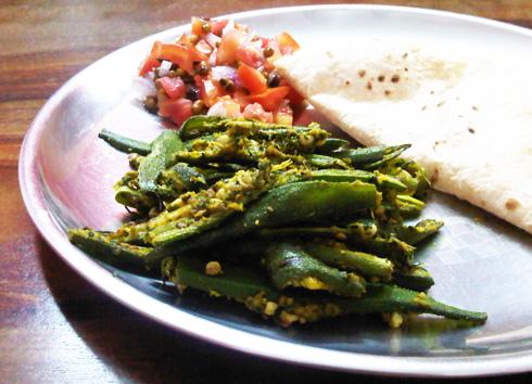 okra-with-ginger-sesame-oliveoil