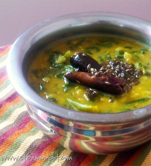 Spinach Toor Dal
