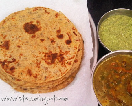 Aloo Parathas without Stuffing