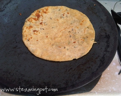 Aloo Parathas on the Tava