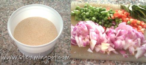 Upma Rava and Vegetables