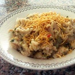 Upma with Moong Sprouts