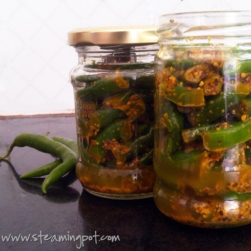 Making Green Chili Pickle