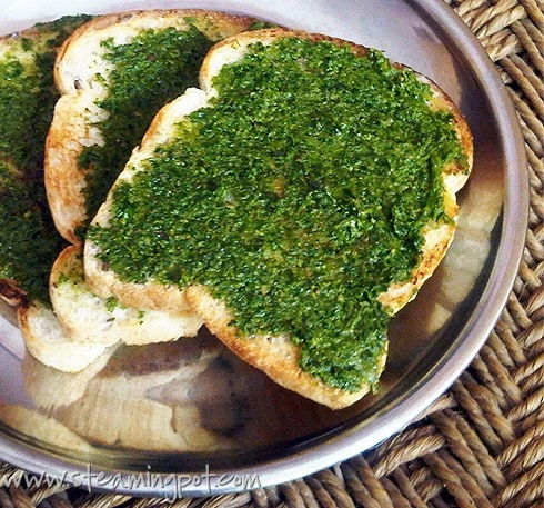 Recipe Ideas Using Pesto: Pesto on Toast