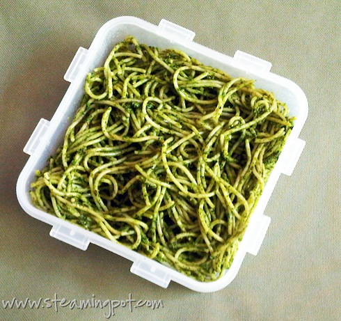 Recipe Ideas Using Pesto: Spaghetti Pesto