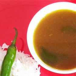 Osaman: Moong Bean Stock with Ginger Pepper Tadka