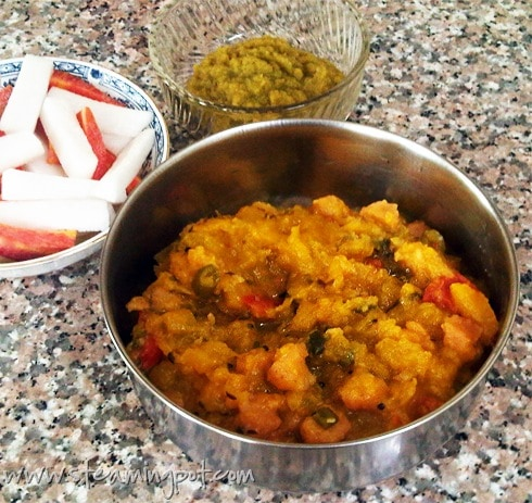 Red Pumpkin Mangodi Curry