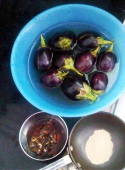 Baby Eggplant, Soaking