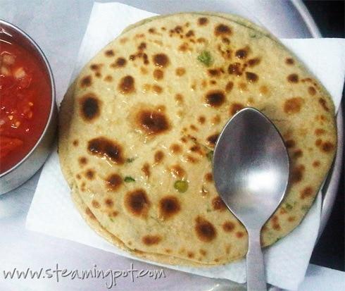 Peas Parathas