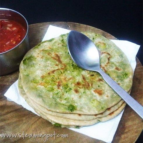 Peas Stuffed Paratha