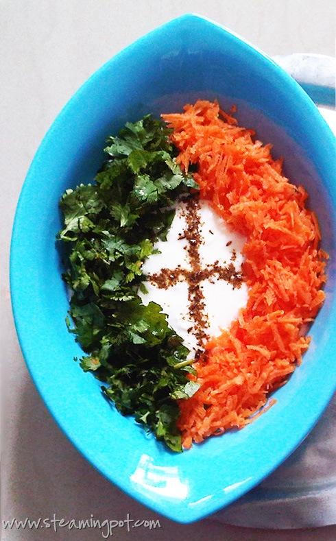 Tricolor Raita: Yogurt Dip in Saffron, White and Green