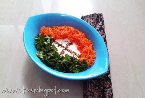 Carrot Coriander Raita