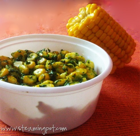 corn spinach and cheese