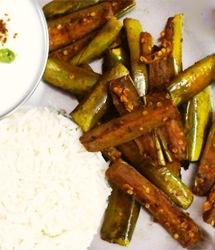 Green Eggplant in Mustard-Fenugreek Masala