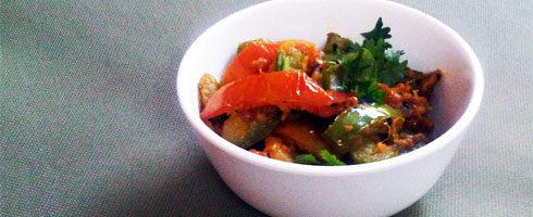 Capsicum Tomato Sauté