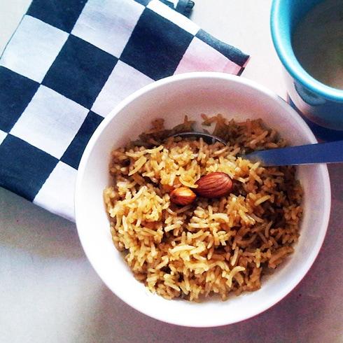 Jaggery Rice - Meethe Chawal