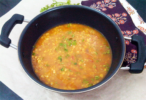 Chana dal (Bengal gram lentils) in a gloriously spiced curry, the kind ...