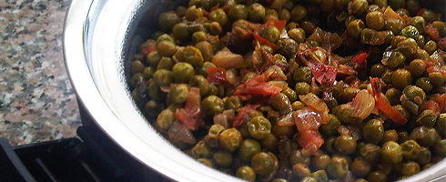 Easy Curried Peas