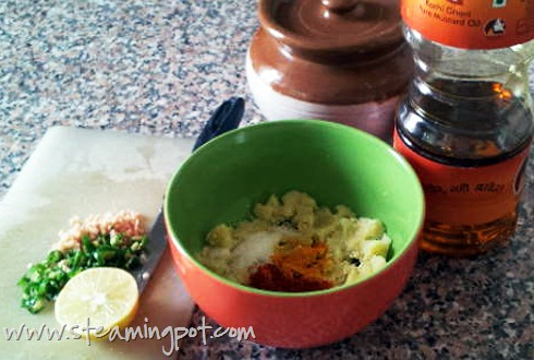 Aloo Chutney Ingredients