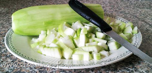 Bottle Gourd, Chopped