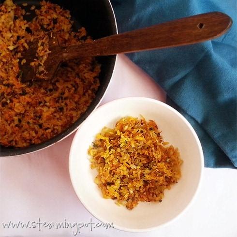 Carrot Poha