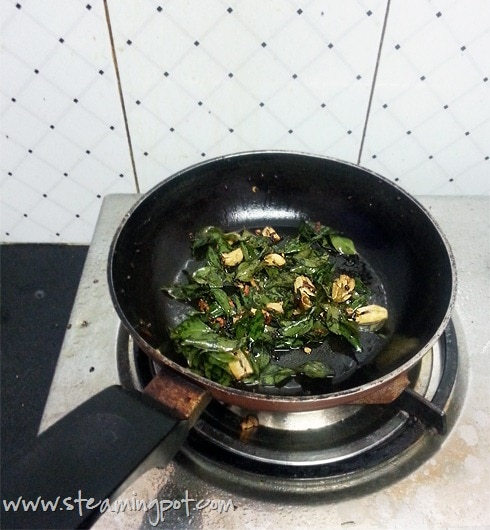 Curry Leaves and Garlic Tadka