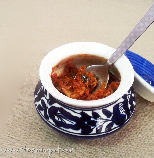 Tomato Pickle with Curry Leaves