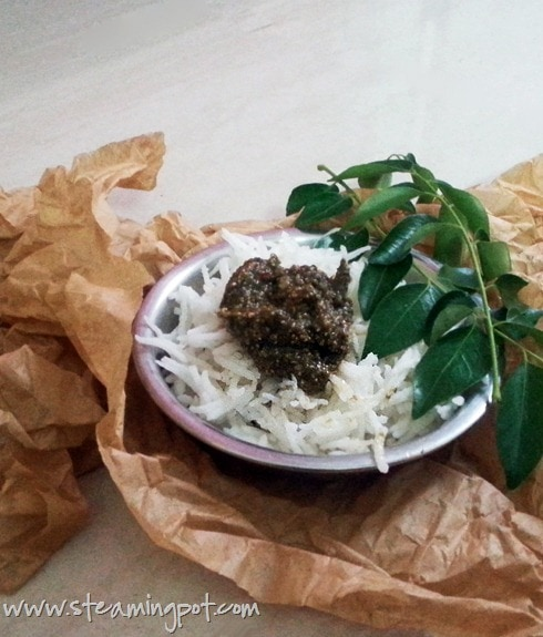 Curry Leaves Poppy Seed Chutney