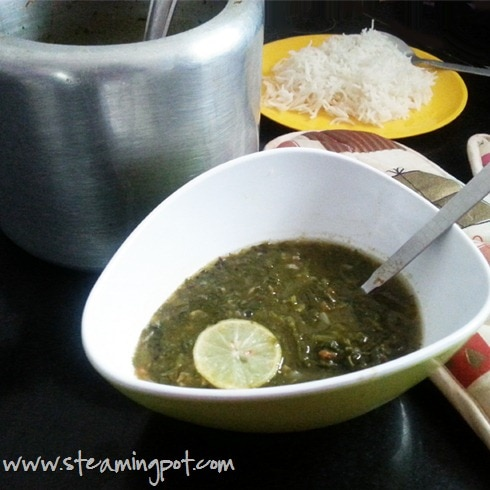 Palak Toor Dal: Spinach with Lentils