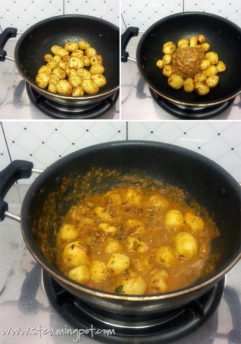 potatoes-in-garlic-sauce-cooking