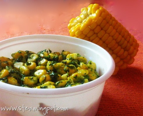 Corn with Spinach and Cheese