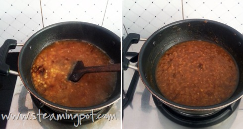 Khatti Meethi Masoor Dal, Cooking 2