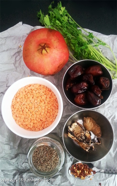 Khatti Meethi Masoor Dal Ingredients