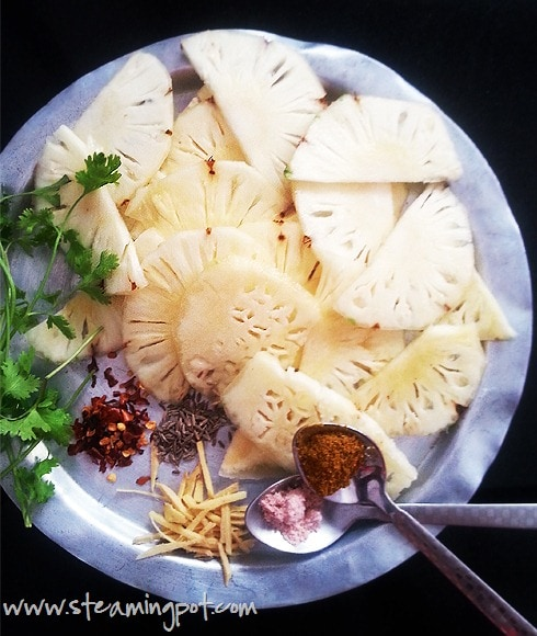 Sautéed Pineapple - Ingredients