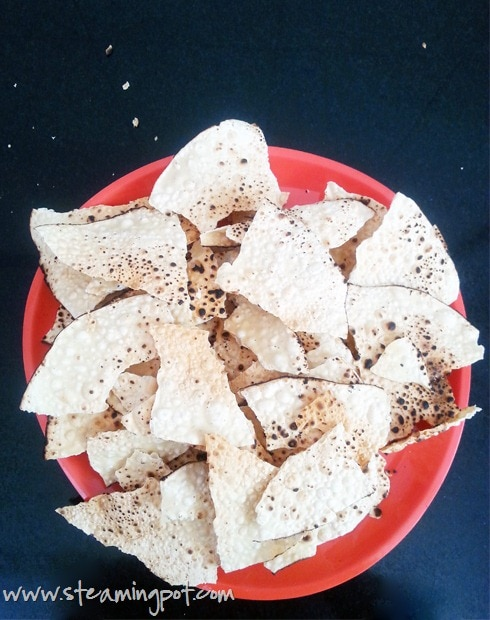 Papad, Roasted and Crushed