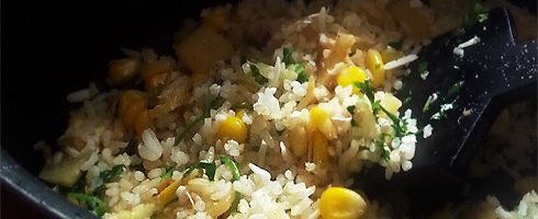 Pineapple sweet corn rice the steaming pot pineapple sweet corn rice doesnt just taste delicious its also a great way to finish off leftovers boiled rice from last nights dinner sweet corn you ccuart Choice Image