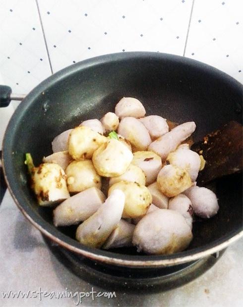 Colocasia, Boiled