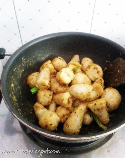Colocasia Cooking