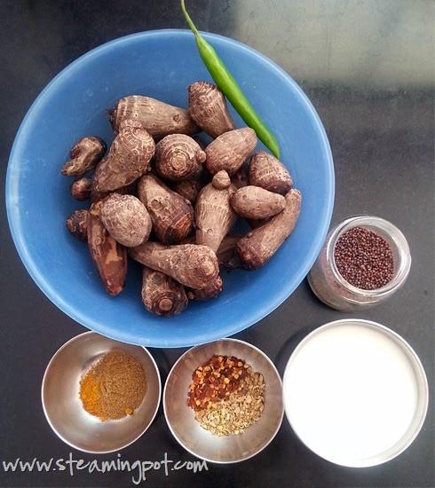 Dahi Arbi Ingredients